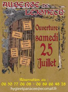 L'auberge de Leignec en août 2020