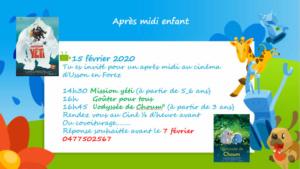 Cinéma enfants le 15 février 2020