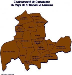 Commuanuté de Communes de St-Bonnet-Le-Château