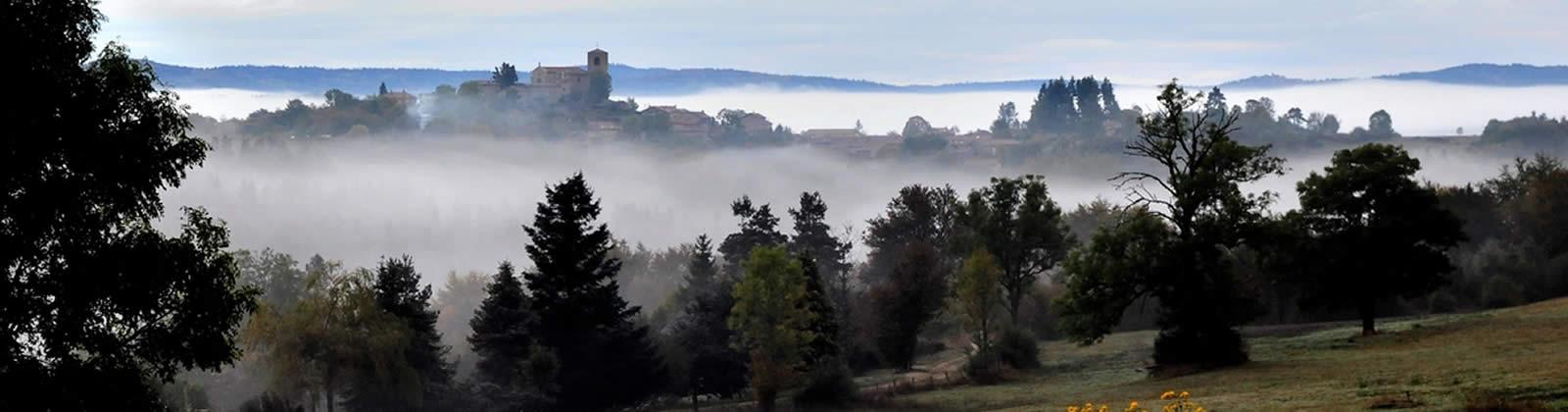 Commune Merle Leignec vue de St Hilaire