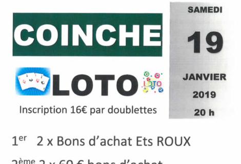 Loto coinche samedi 19 janvier 2018 à Merle