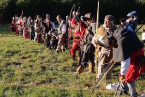 Tir l'arc longue distance fête médiévale Leignec 2019