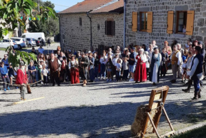 Tir du roi fête-médiévale Leignec 2019